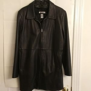 Alfani Women's 100% Soft Leather Jacket Size L
